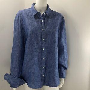 J. Crew Baird McNutt Irish linen shirt size 14